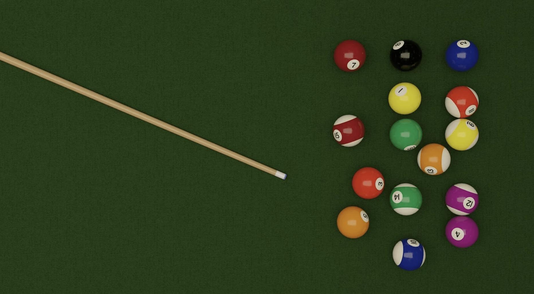 Pool cues of intermediate