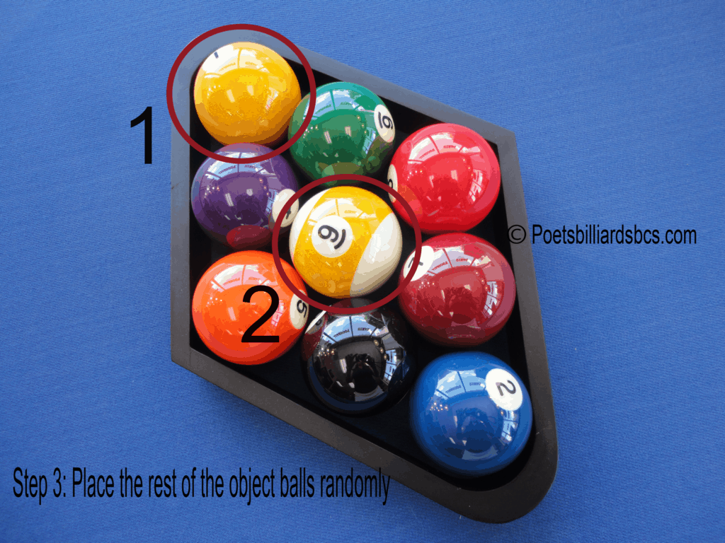 How to rack 9-ball diagram